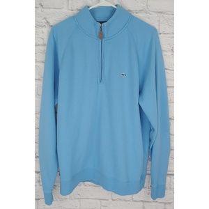 Fish Hippie 1/4 Zip Sweater, Size M